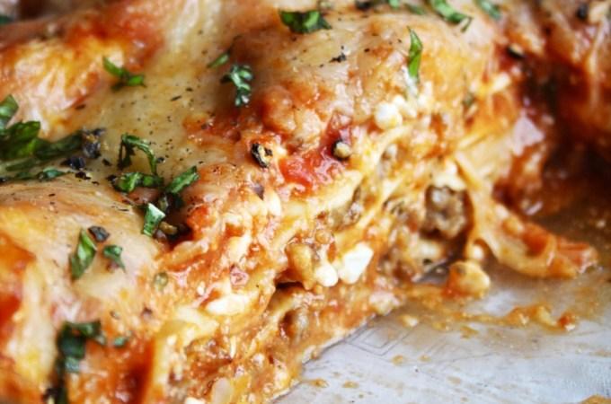 Absolute Easiest No-Fuss Lasagna