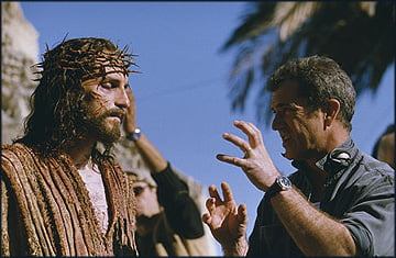 Jim Caveizel and Mel Gibson on set for The Passion of The Christ