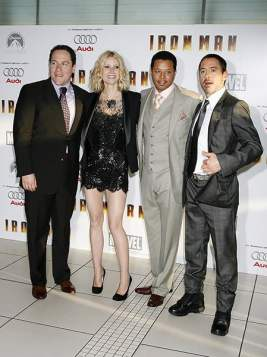 Jon Favreau, Gwyneth Paltrow, Terrence Howard, Robert Downey Jr.