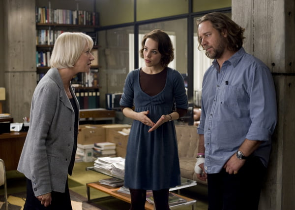 Hellen Miren, Rachel McAdams and Russell Crowe in State of Play