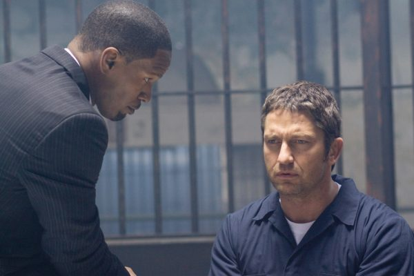 Jamie Foxx and Gerard Butler in Law Abiding Citizen