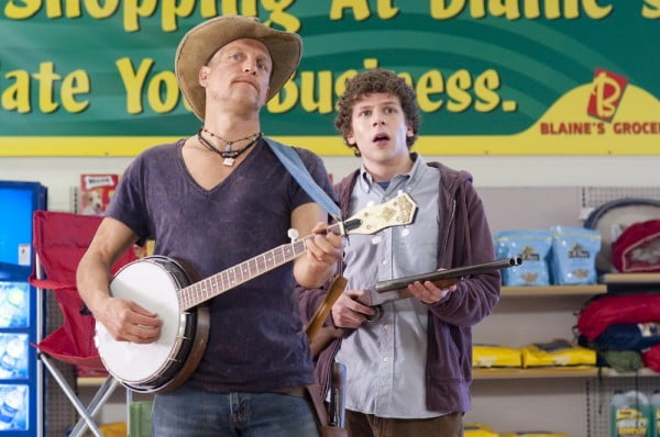 Woody Harrelson and Jesse Eisenberg in a scene from Zombieland