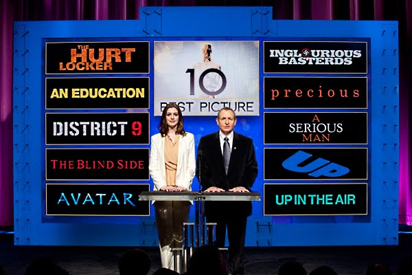 Anne Hathaway and Academy President Tom Sherak announce the 2010 nominees