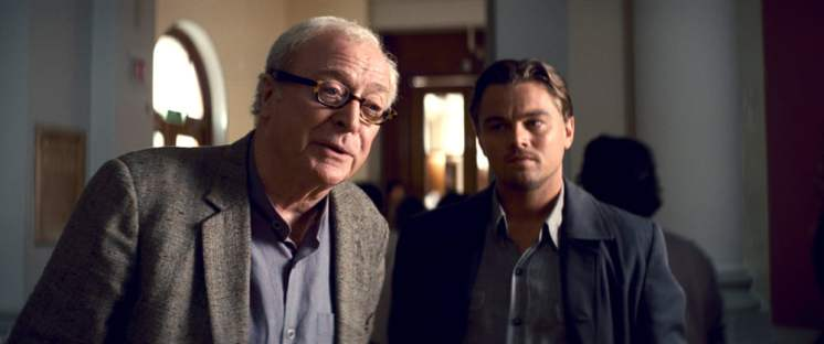 Michael Caine and Leonardo DiCaprio