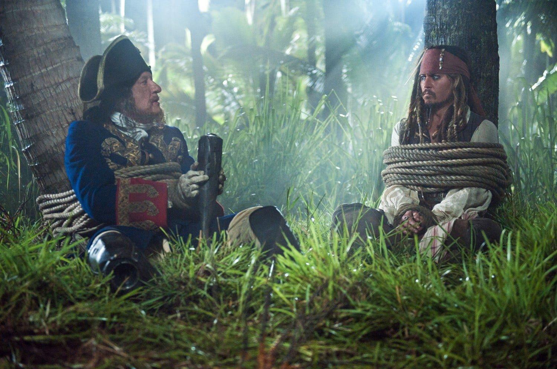 Geoffrey Rush and Johnny Depp