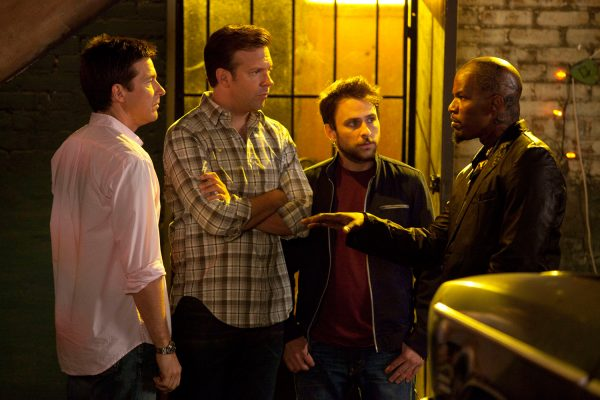 Jason Bateman, Jason Sudeikis, Charlie Day and Jamie Foxx in Horrible Bosses