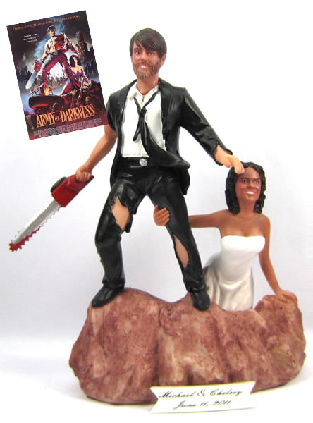 Army of Darkness wedding cake topper