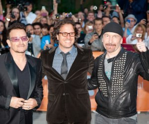 Bono, Davis Guggenheim and The Edge on the red carpet