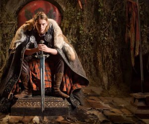 Jamie Campbell Bower in Camelot as King Arthur