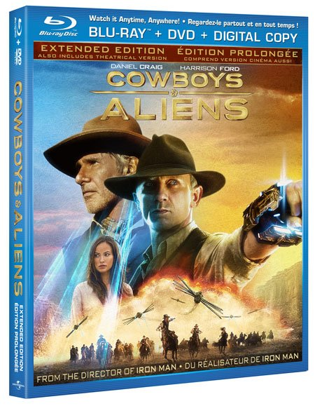 Cowboys and Aliens on Blu-ray