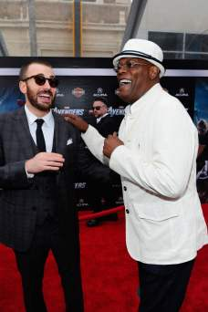 Chris Evans and Samuel L. Jackson