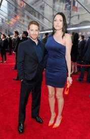 Actor Seth Green and Clare Grant