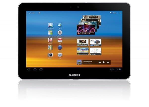Closeup on Samsung Galaxy Tab 10.1
