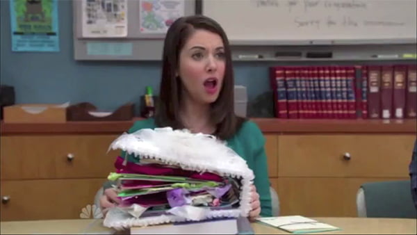 Alison Brie doing the Annie Edison gasp