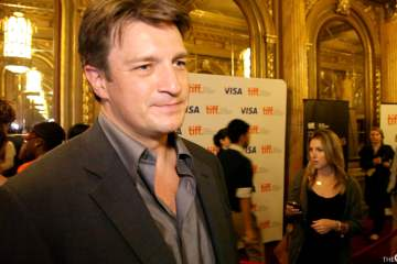Nathan Fillion on the red carpet for Much Ado About Nothing