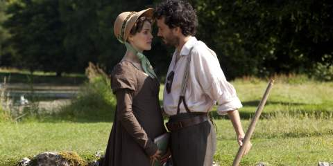 Keri Russell and Bret Mckenzie in Austenland