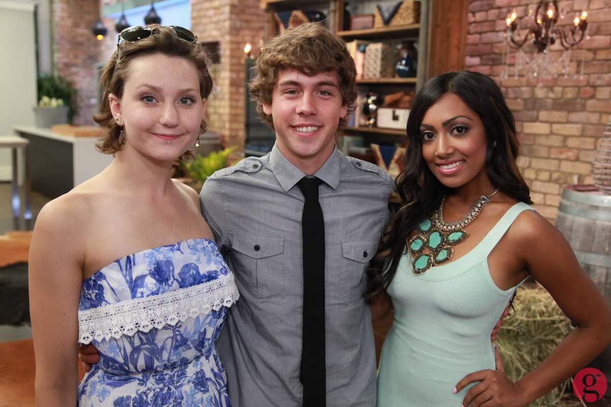 Degrassi stars Jordan Todosey, Munro Chambers, and Melinda Shankar