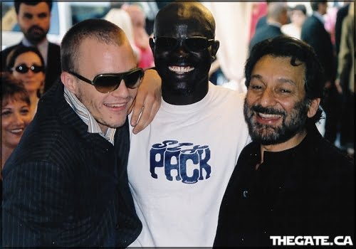 Heath Ledger, Djimon Hounsou & Shekhar Kapur