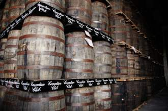 Canadian Club barrels