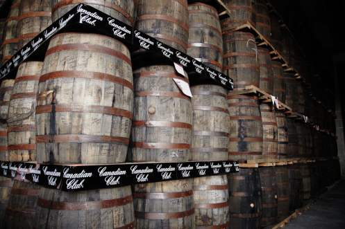Canadian Club barrels