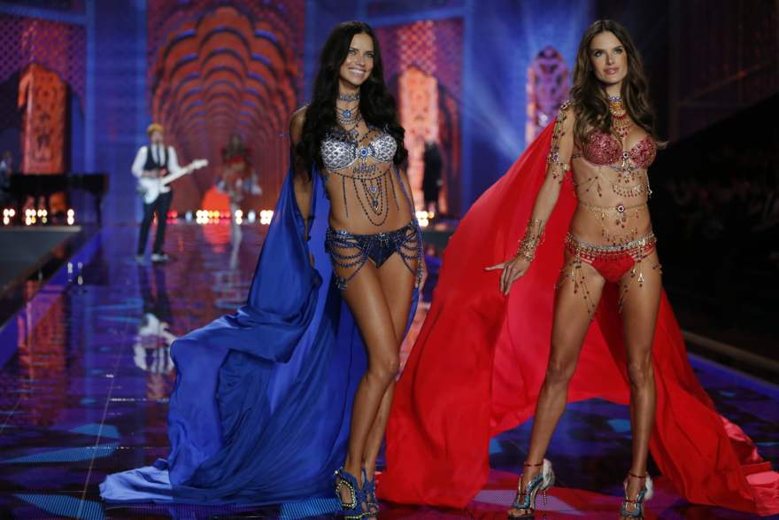 320e20db4b Adriana Lima and Alessandra Ambrosio. The annual Victoria s Secret Fashion  Show ...