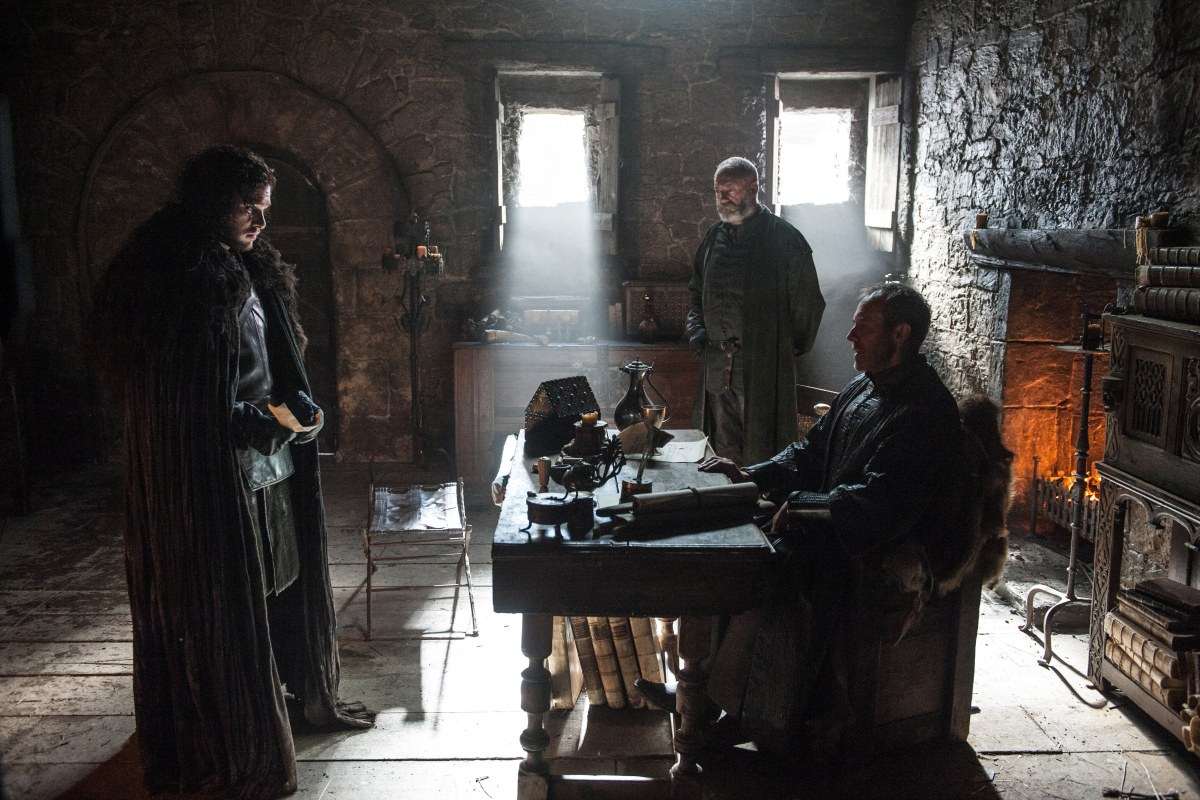 Kit Harington, Stephen Dillane, and Liam Cunningham