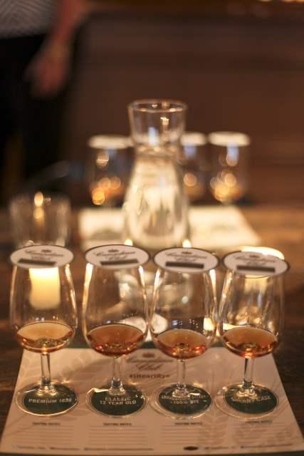 Canadian Club whisky tasting