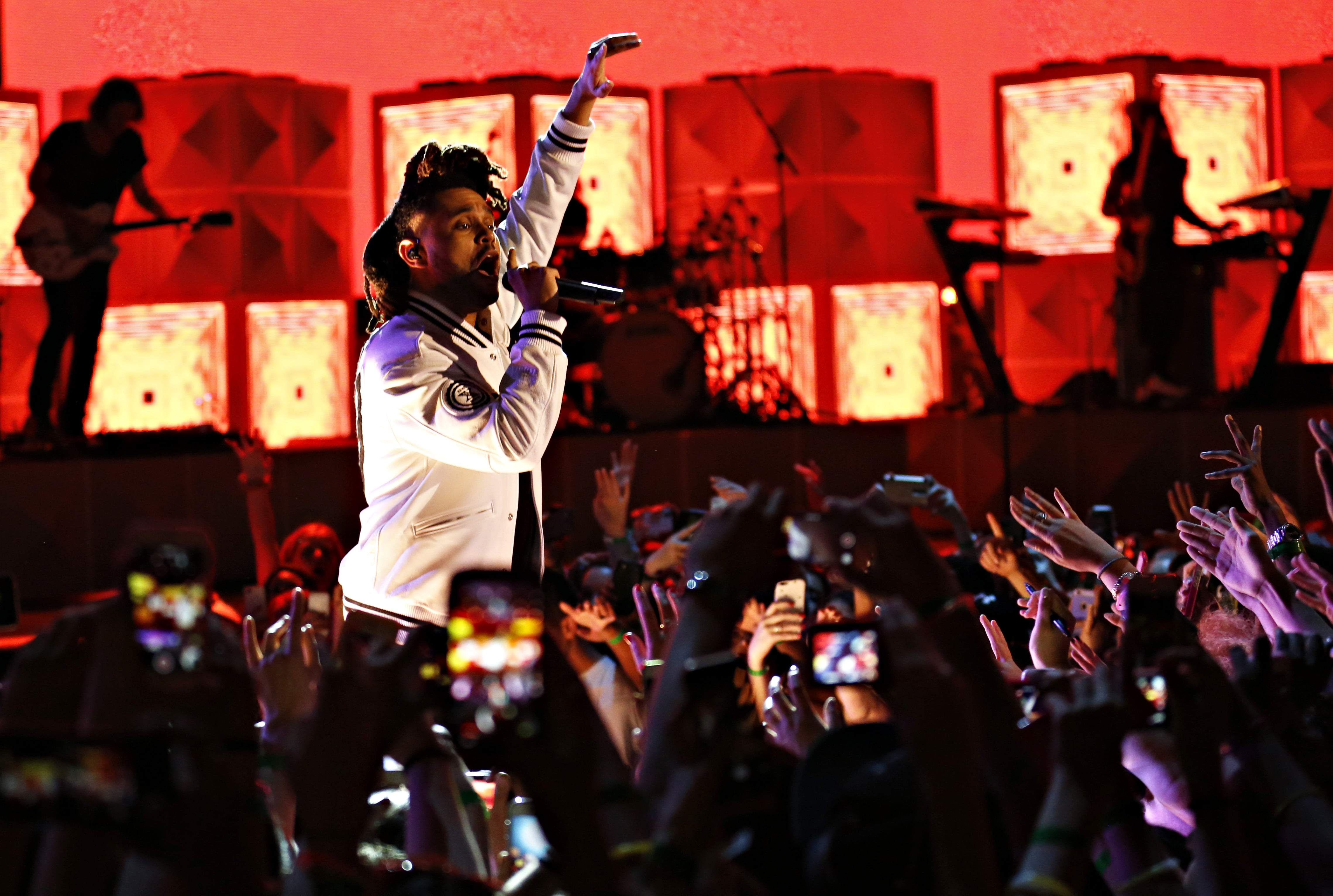 The Weeknd performs