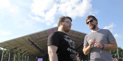Josh Ward and Phil Maloney of Hey Rosetta!
