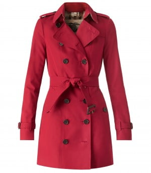 Burberry Heritage Trench Coat in Parade Red