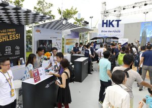 Hong Kong ePrix e-village