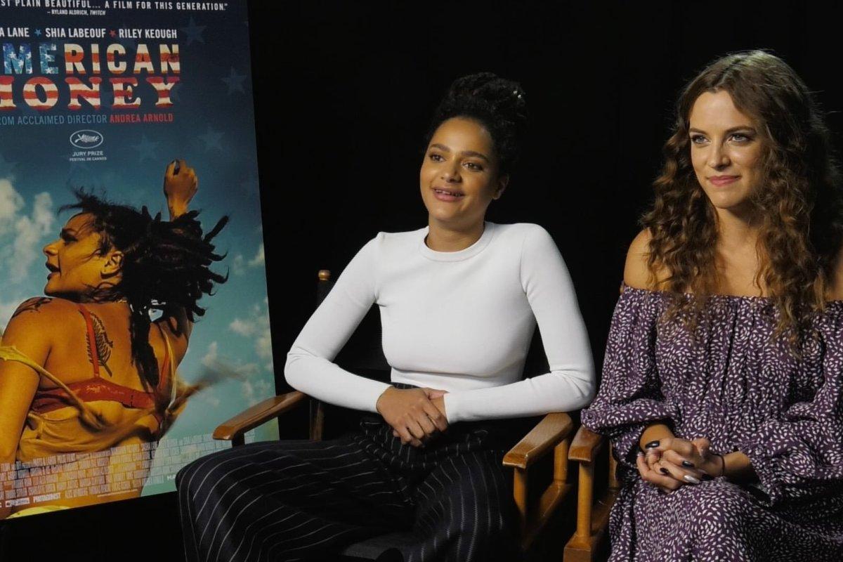 Sasha Lane and Riley Keough