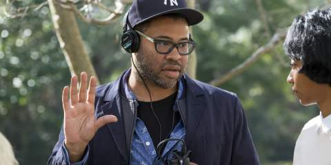 Jordan Peele behind the scenes of Get Out