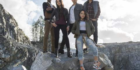 RJ Cyler, Naomi Scott, Ludi Lin, Dacre Montgomery, and Becky G