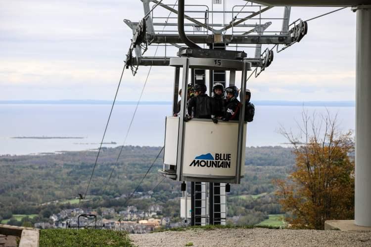 Blue Mountain open air gondola