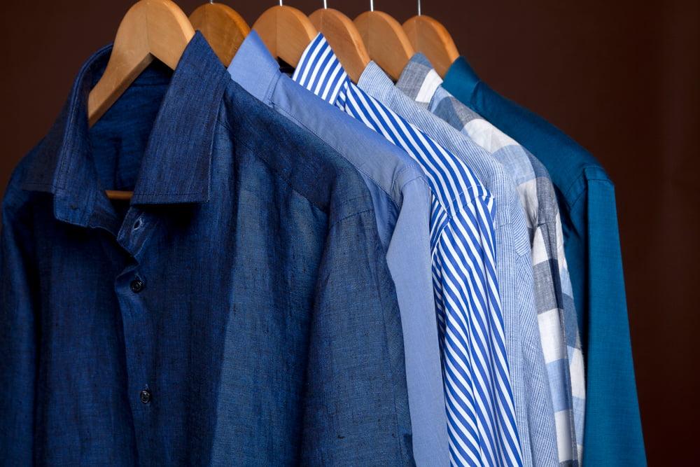 Mens Custom Shirts rack