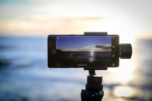 The Samsung Galaxy Note 8 filming on the coast in San Diego