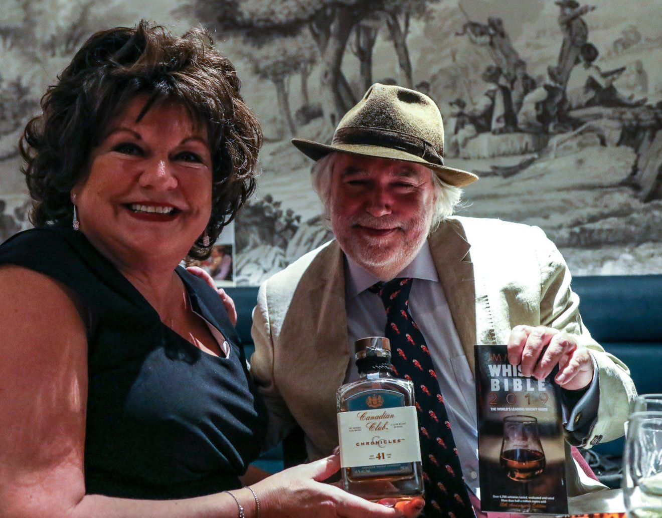 Canadian Club Global Brand Ambassador Tish Harcus, and Jim Murray of the Whisky Bible
