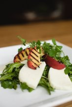 Hawthorne Food Drink - Grilled Peach Mozzarella Salad