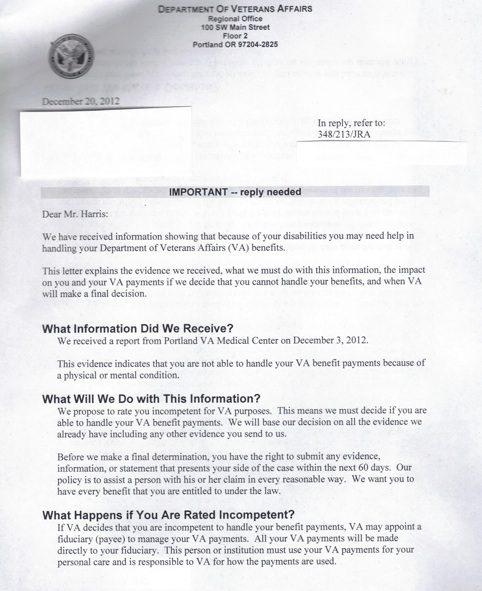 letter veterans