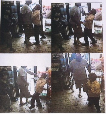 Surveillance stills from the Ferguson convenience store where Michael Brown did some aggravated shoplifting before an officer saw him walking in the middle of a busy street.
