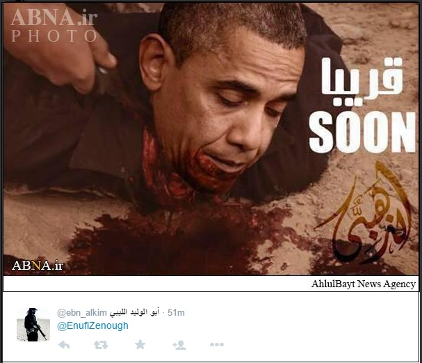 Image result for image of Obama beheaded