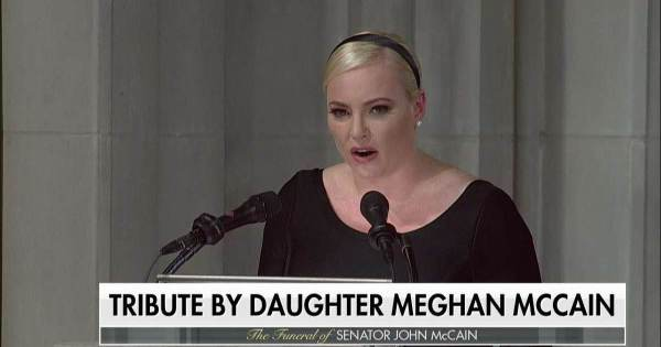 AWFUL. Meghan McCain Unloads on President Trump at Father ...