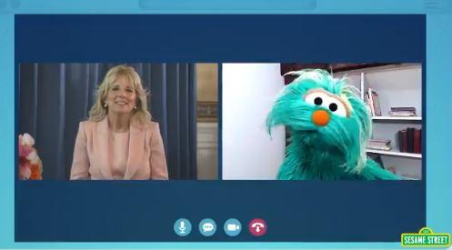 """WTH? Jill Biden Appears on Sesame Street to Promote """"Race Literacy"""" to Little Children"""