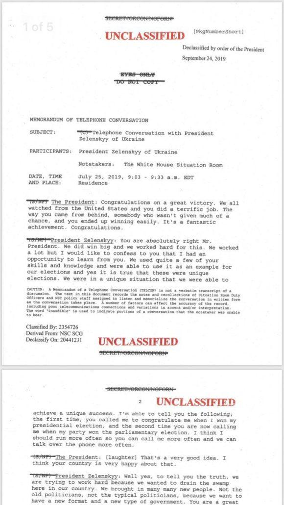 Impeach Ukraine Transcript page 1