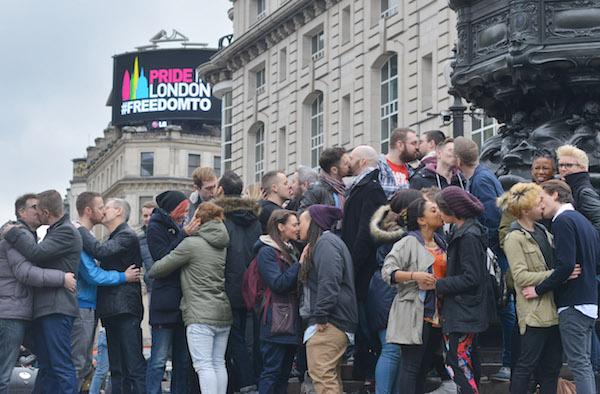 London Gay Kiss In