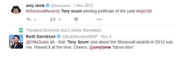 Amy Lame and Ruth Davidson