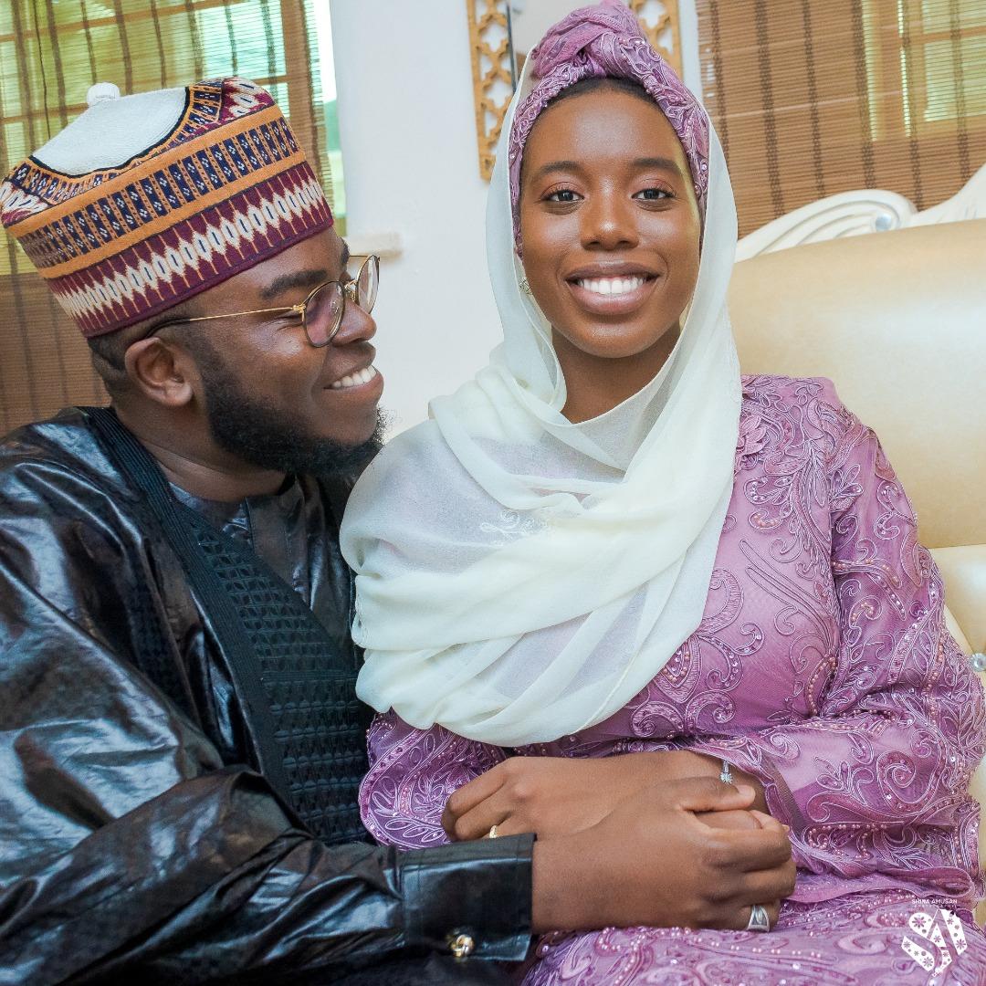 In Pictures, Modele Sharafa-Yusuf's Son Hooks Sheikh Mansur Williams' Daughter