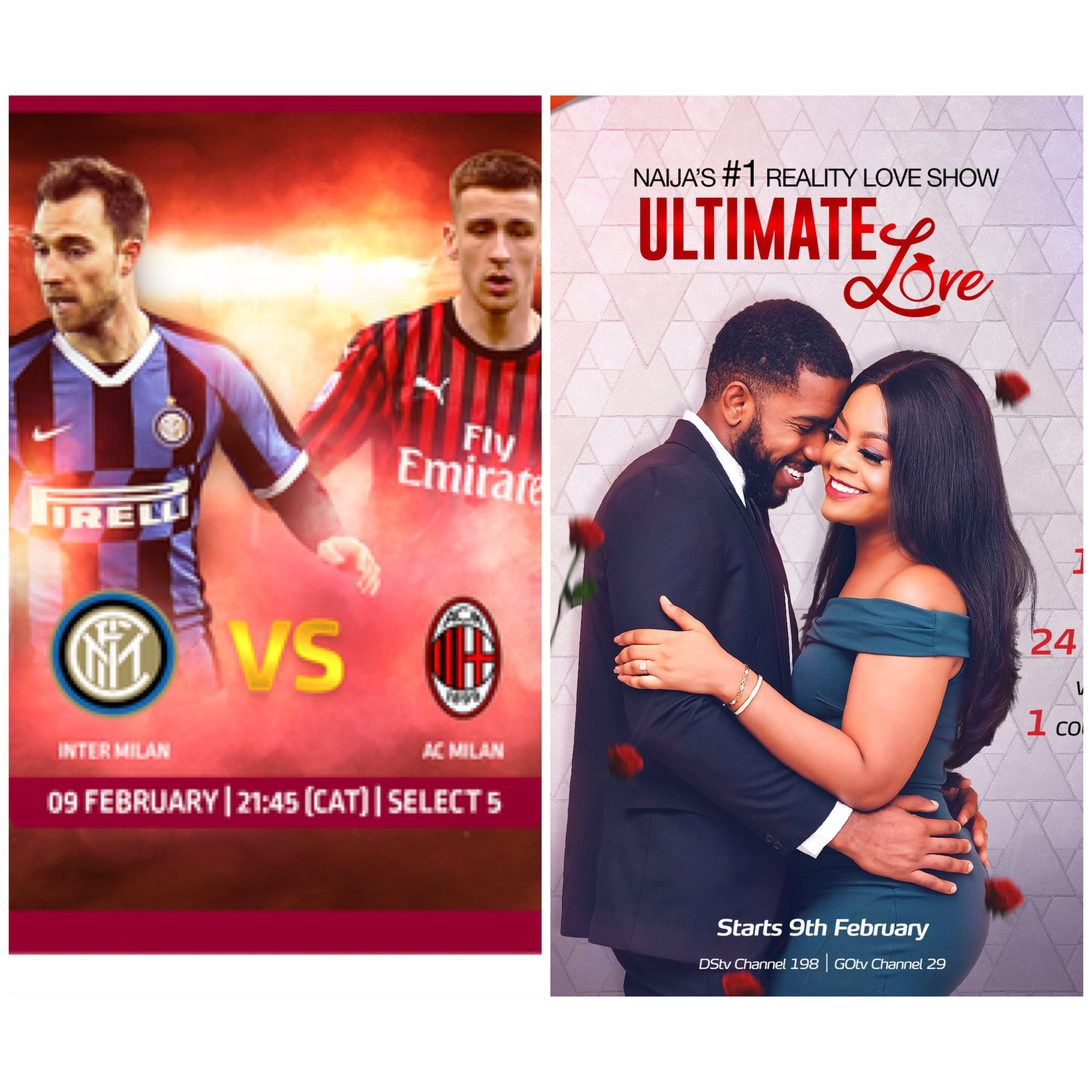 Milan Derby, Ultimate Love Premiere, Lagos City Marathon and more this Weekend on GOtv