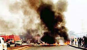 Okada/Keke Ban: Riot In Iyana Ipaja As Okada Riders, Police Clash